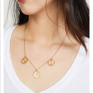⭐️New⭐️Madewell Brass Coin Necklace